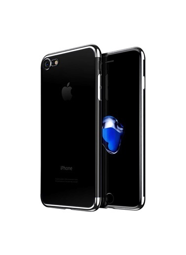 Microsonic iPhone 8 Kılıf Skyfall Transparent Clear  Gümüş